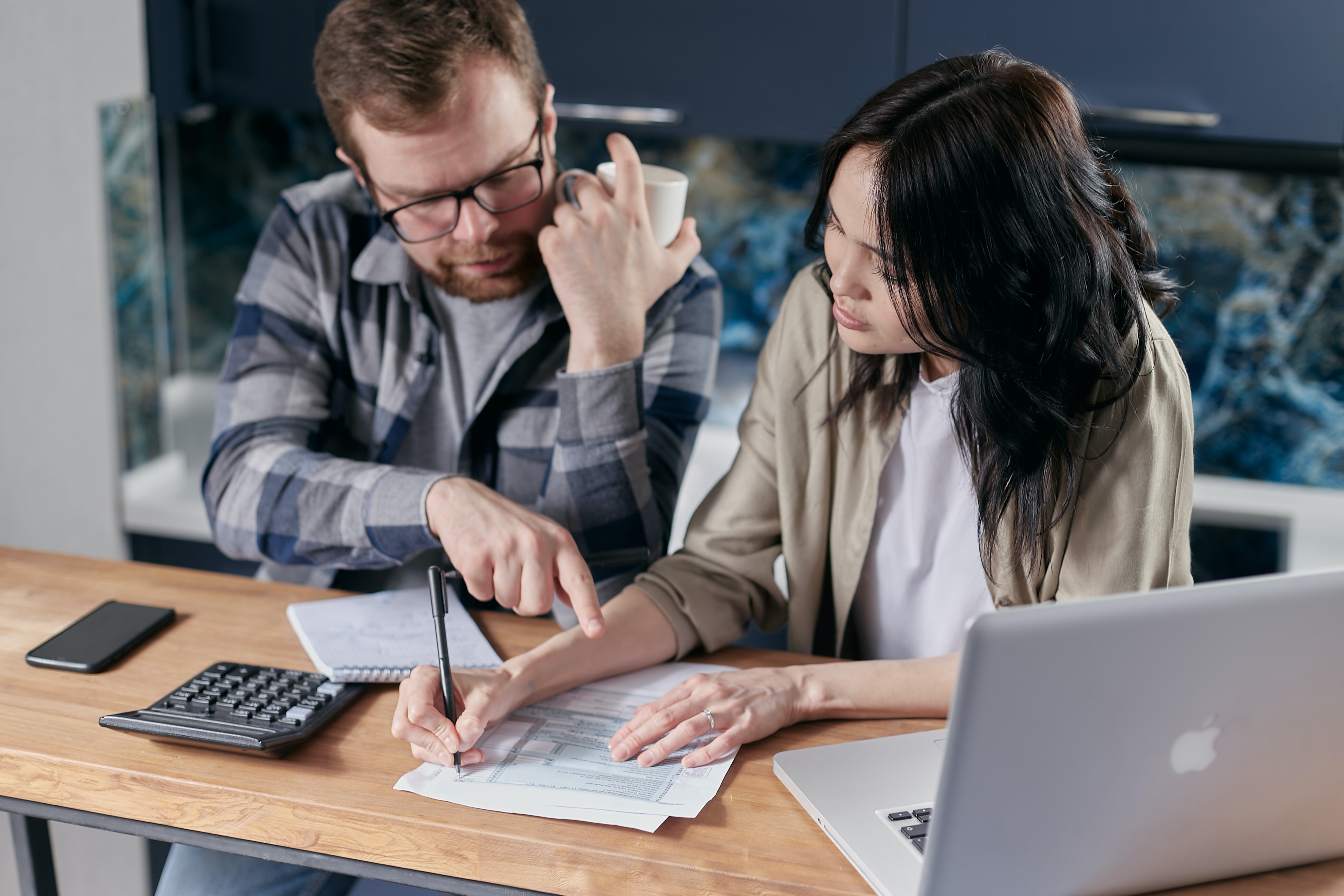 Couple consolidating their bills
